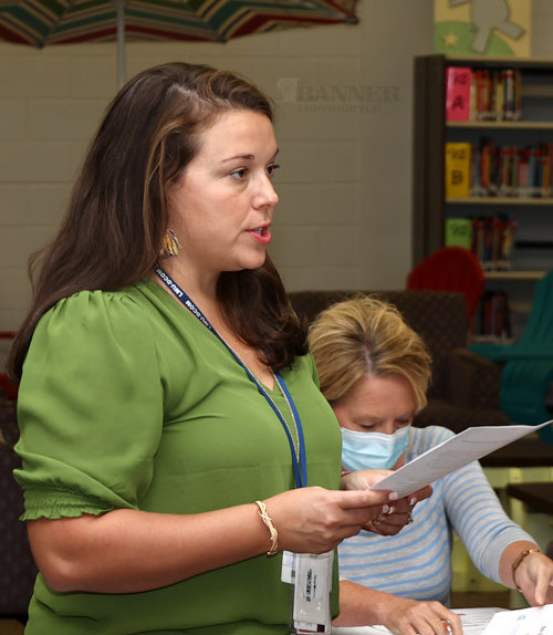 Dr. Amanda Finley, a hospitalist at Henry County Medical Center, advocates for a mask mandate at McKenzie Schools.