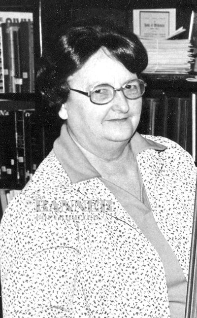 Mary Ruth Devault was instrumental in the founding and development of the Gordon Browning Museum and Carroll County Historical Society while serving as the librarian at the McKenzie Memorial Library.