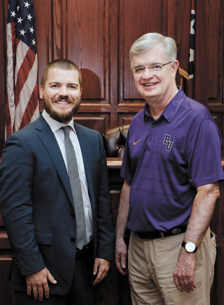 Father and son are both mayors of Carroll County: Joseph Butler, newly elected mayor of Carroll County, and his dad, Walter Butler, mayor 1994-96.