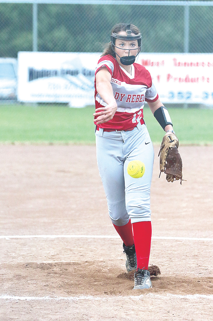 Lady Rebel Briley Auvenshine threw four-and-a-third scoreless innings of relief to allow McKenzie's comeback.