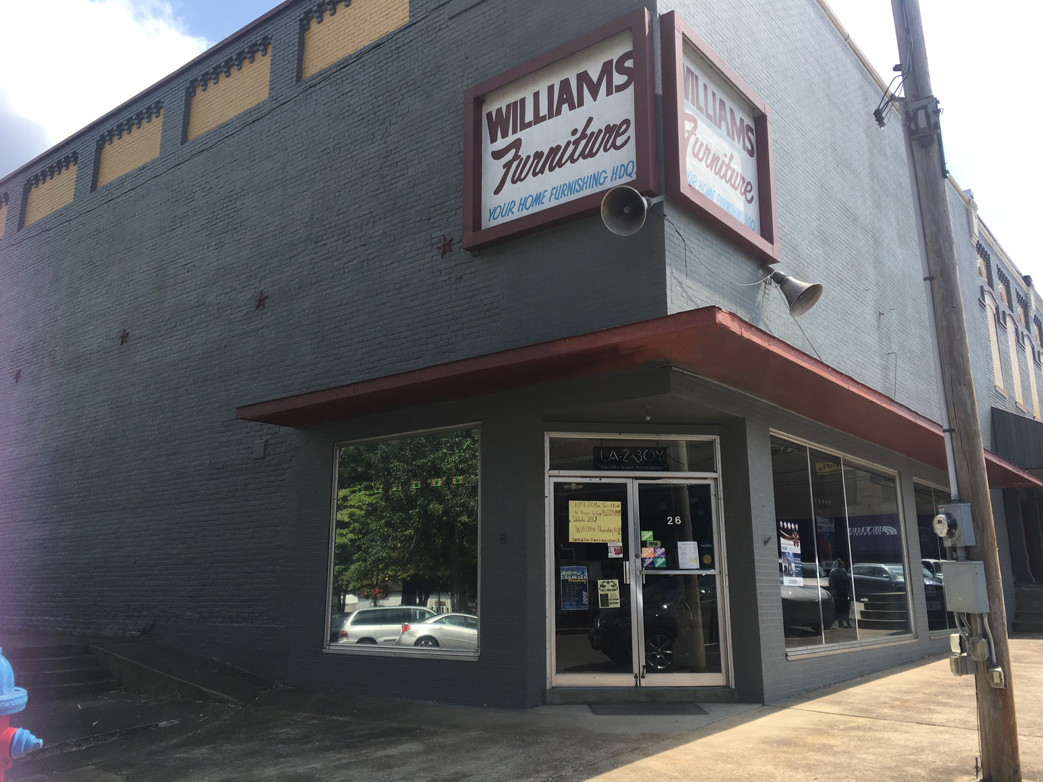 Williams Furniture in Downtown McKenzie on Monday, August 27, 2018.