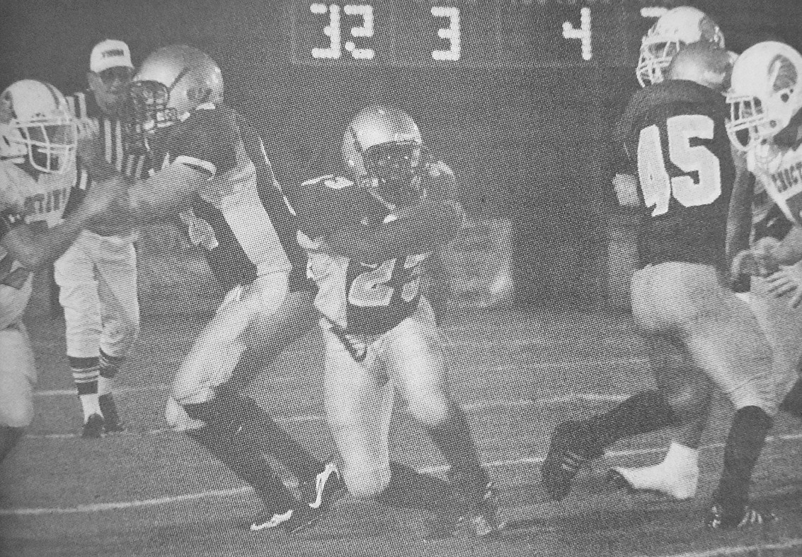10 YEARS AGO — Mustang Ken Holder carries in Huntingdon's 24-7 loss to Dyer County.