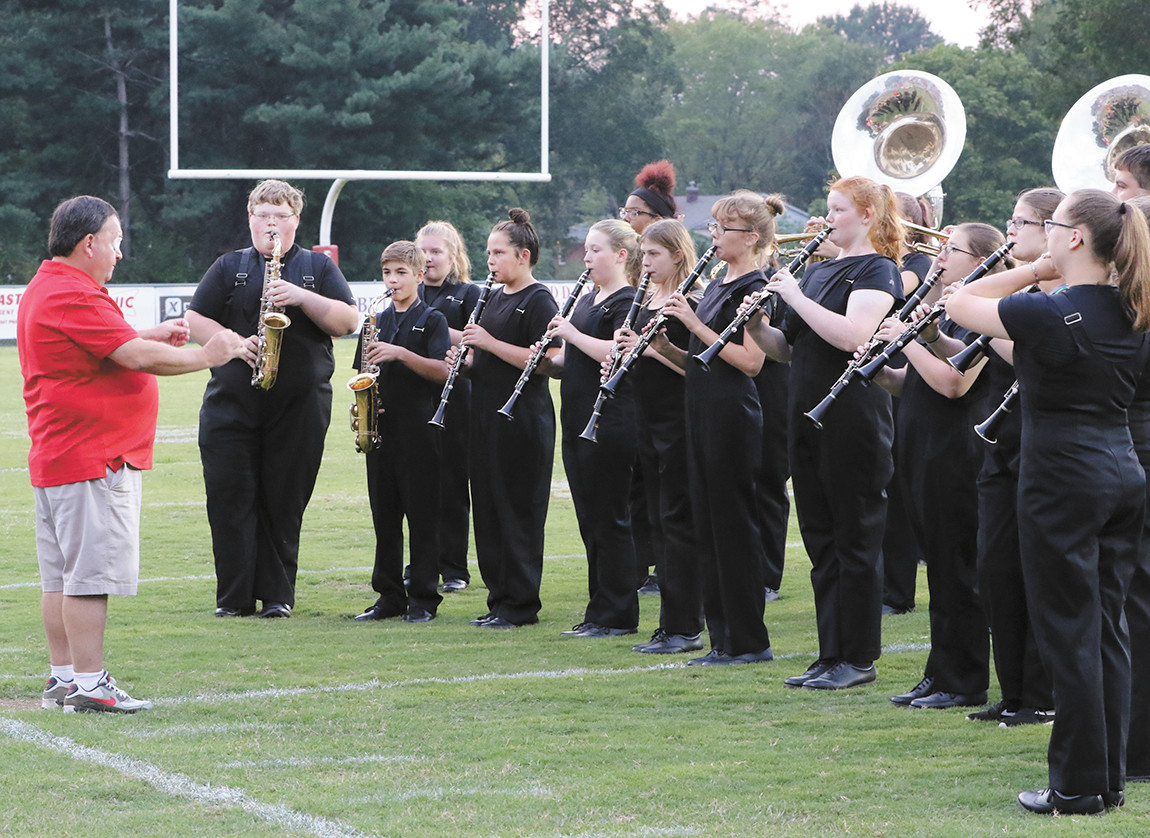 MHS Band does National Anthem.
