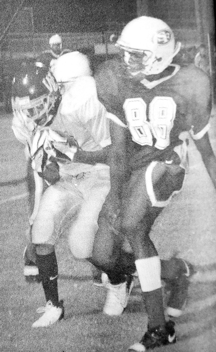10 YEARS AGO — War Eagle Avery Fuller hauls in a 19-yard touchdown reception in West Carroll's 33-20 loss to South Fulton.