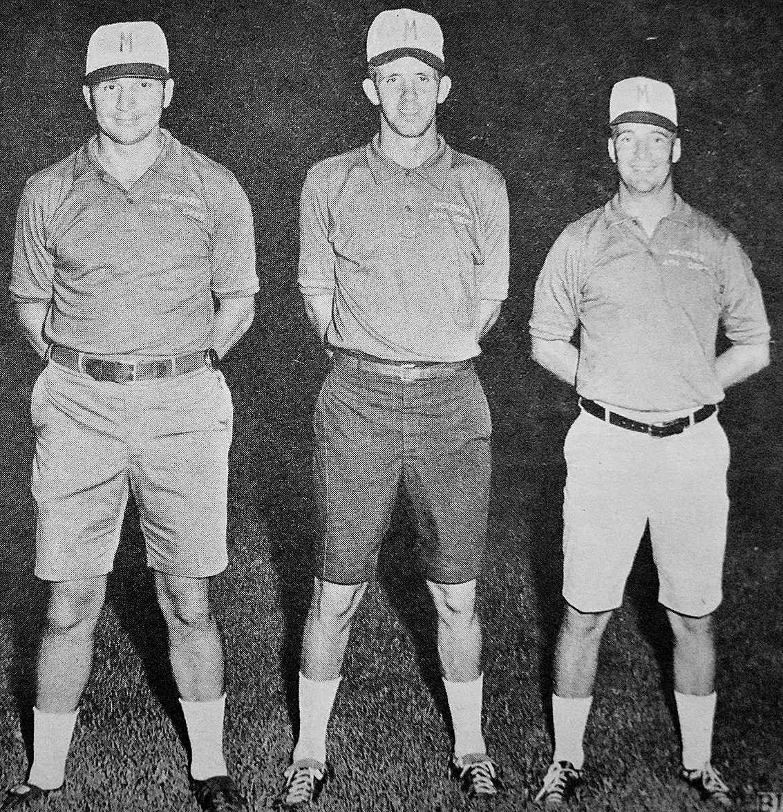 50 YEARS AGO — McKenzie High School Football Coaches (L to R): Assistant Coach Dewey Chism, Head Coach Jerry Escue and Assistant Coach Leroy Seagraves.