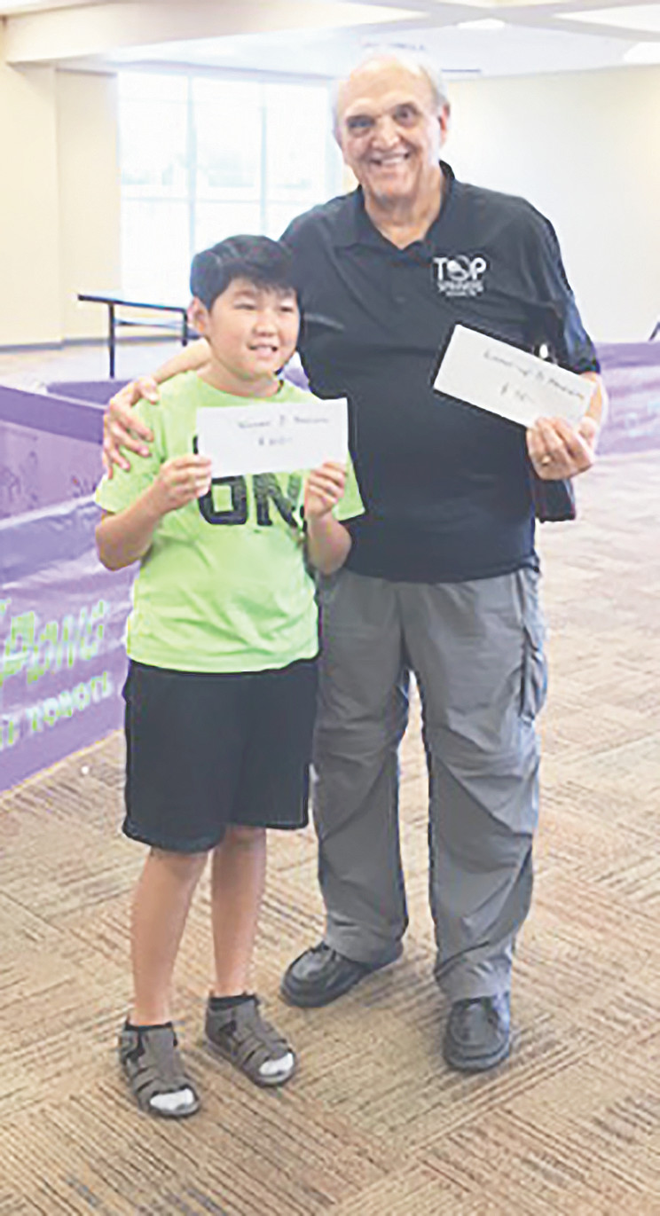 D Division Winner Christian Lee (left) and Runner-Up Lawrence Taylor.