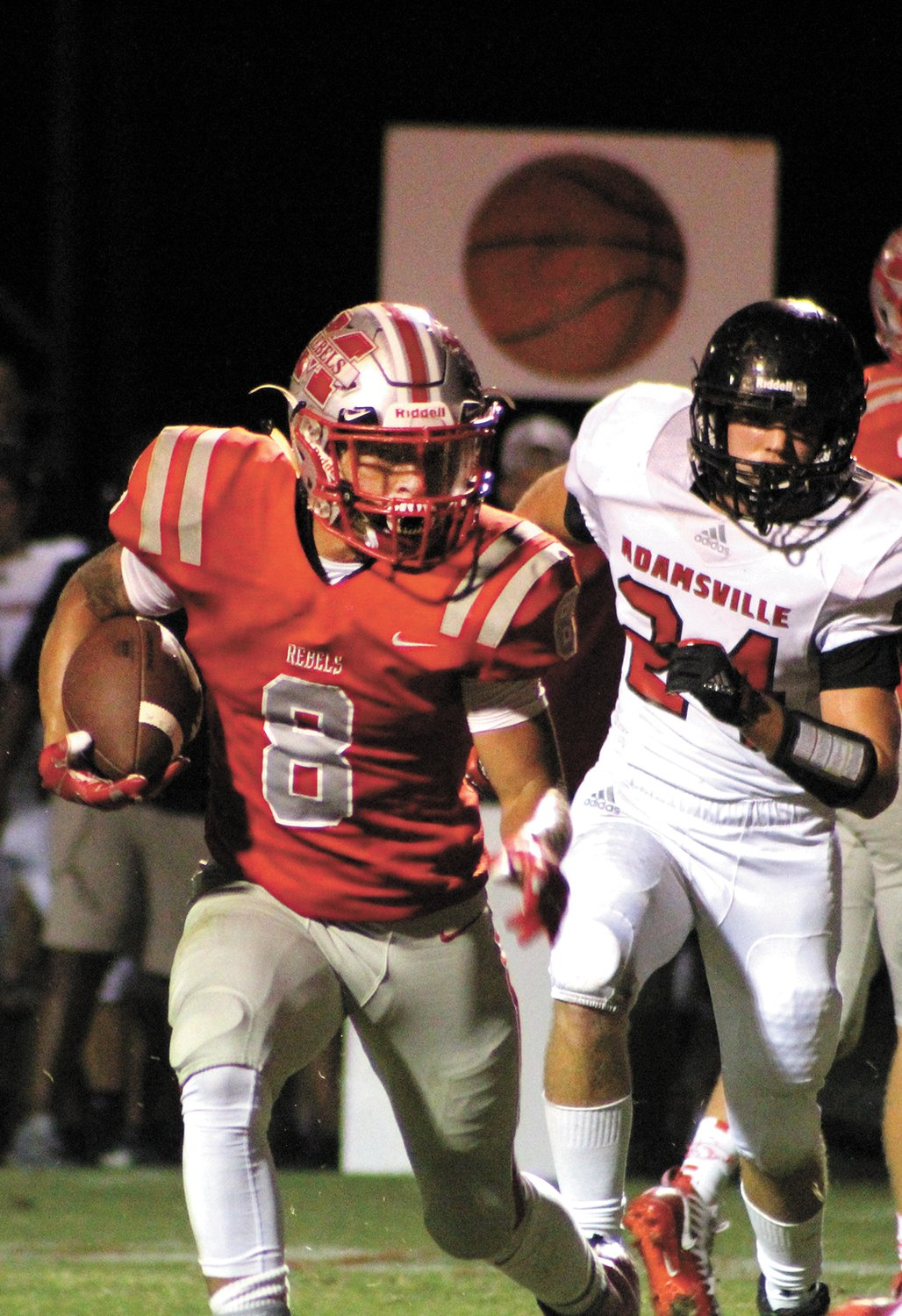 Joseph Miller ran for 140 yards and two scores against Adamsville.