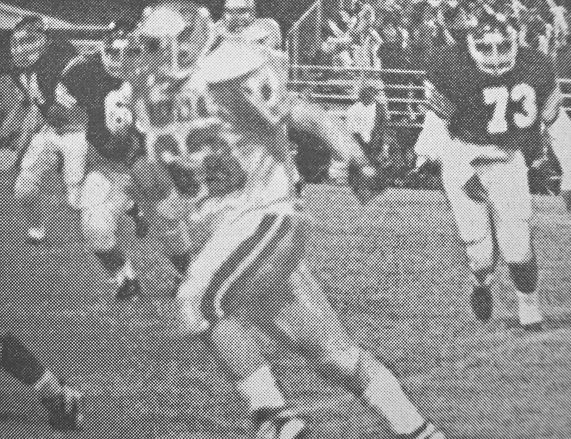 20 YEARS AGO — Rebel Justin Townsend lead the blocking in McKenzie's 21-0 win over Halls.