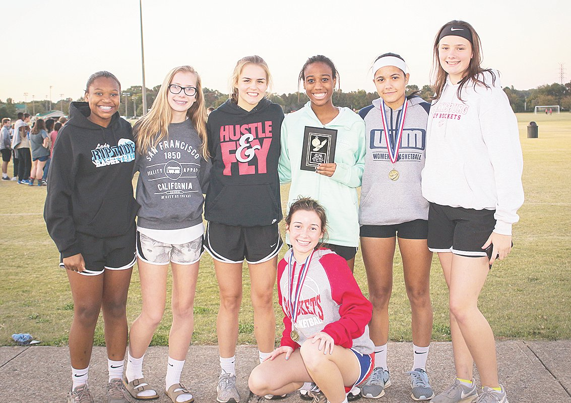 The Clarksburg High School Girls Cross-Country team.