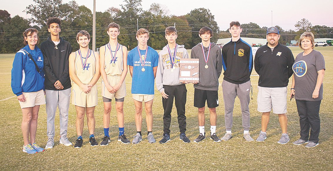 The Huntingdon High School Boys Cross-Country team.