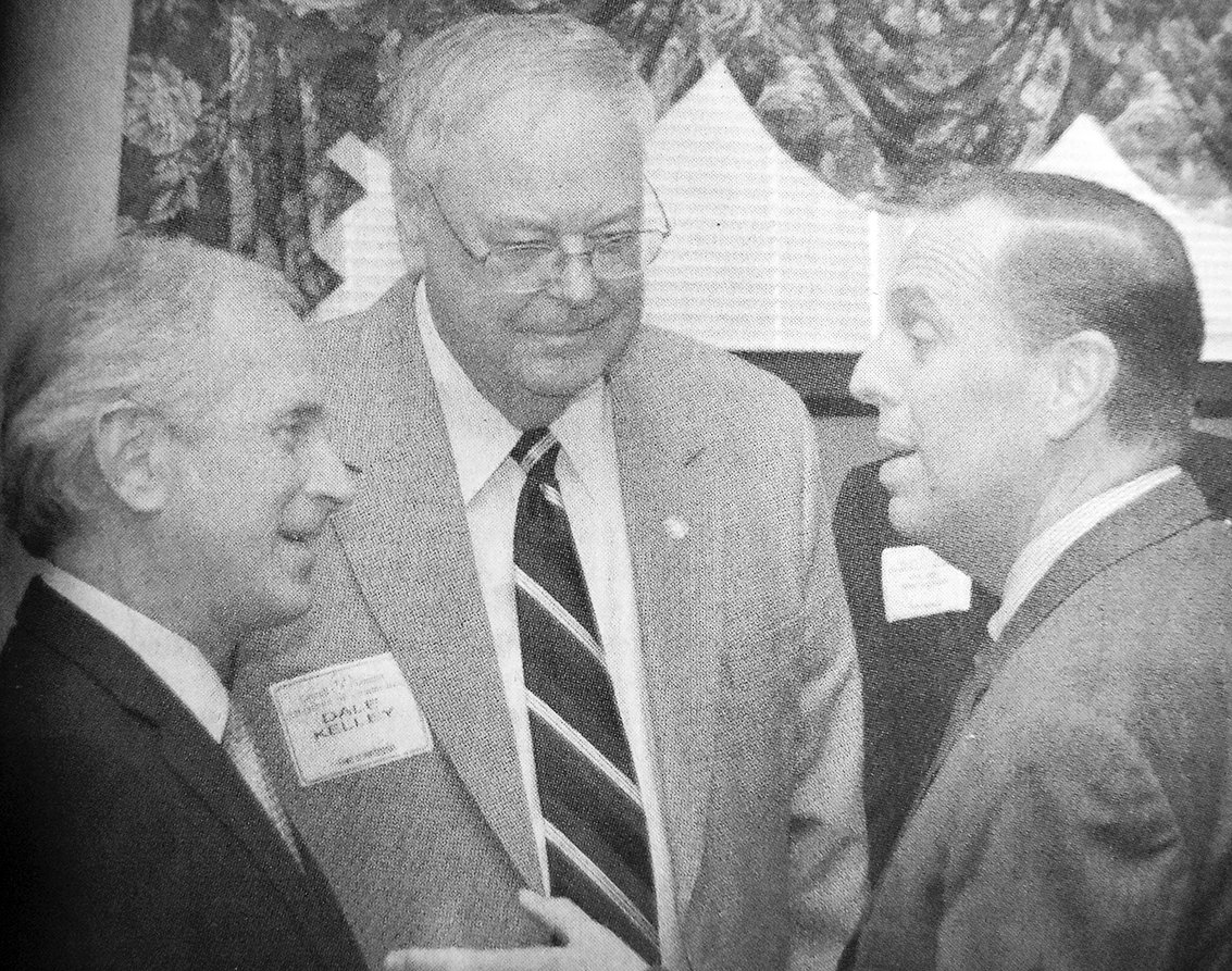 10 YEARS AGO — From left, U.S. Senator Bob Corker, Huntingdon Mayor Dale Kelley and Carroll County Mayor Kenny McBride converse during the senator's visit to the Carroll County Chamber of Commerce in Huntingdon.