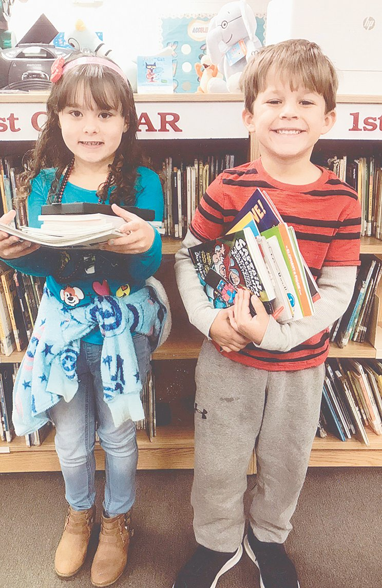 McKenzie Elementary School recently held its fall Scholastic Book Fair. A Family Night was held on Thursday, October 25. Parents were allowed to register their child for a chance to win $50 in free books. This year's winners were Kiya Moon (left) and Cooper Cunningham.
