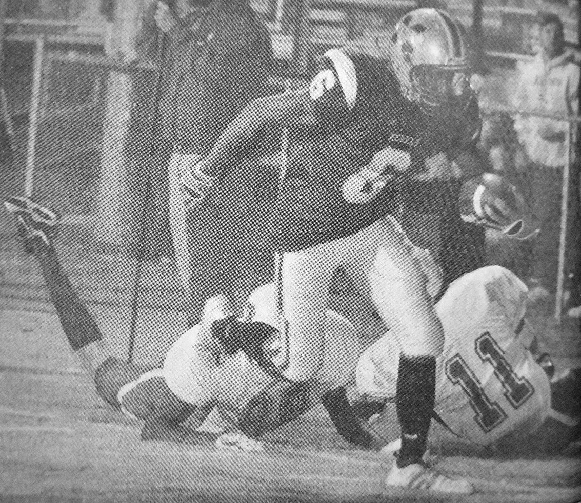 10 YEARS AGO — Rebel Richie Clark scores on a 36-yard pass in McKenzie's 41-0 win over South Fulton in the regular-season finale.