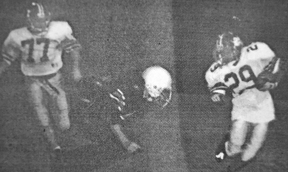 20 YEARS AGO — War Eagle Brandon Hillsman (29) dodges a Bulldog defender in West Carroll's 25-6 win over Gleason in the regular-season finale.