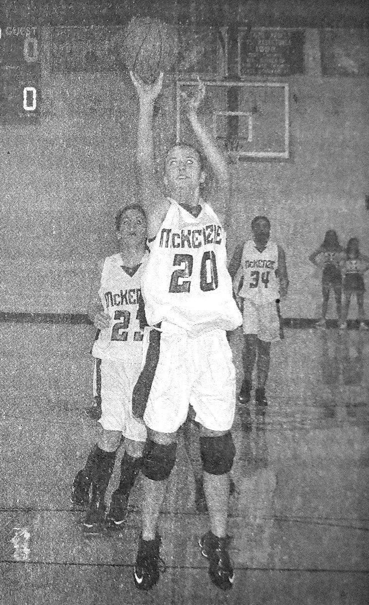 10 YEARS AGO — Lady Rebel Kelsey Carr shoots an open jumper in McKenzie's win over Carroll Academy.