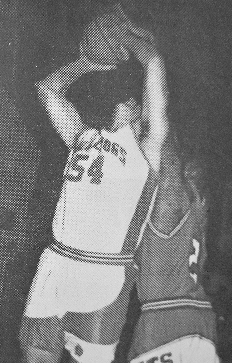 20 YEARS AGO — Bulldog Lee Lawrence takes a contested shot in Gleason's win over Clarksburg.