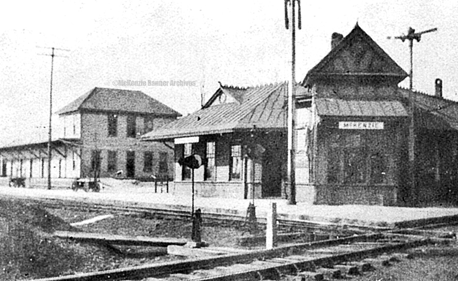McKenzie Train Depot and Freight Loading Station in the early 1900s.