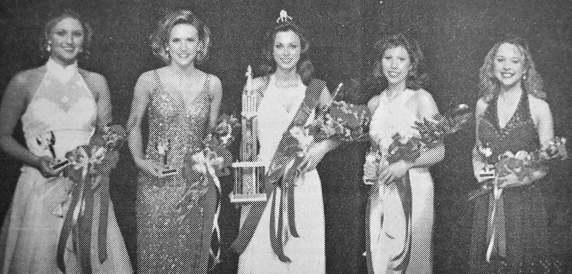 20 YEARS AGO — Amber Pounds, daughter of Wayne and Jean Pounds, was crowned Miss McKenzie. The royalty included (L to R): Third Maid Rachel Carroll, daughter of Jimmy and Ruth Carroll; First Maid Sarah Bennett, daughter of Jimmy and Peggy Bennett; Queen Amber Pounds; Second Maid Beth French, daughter of Norman French and Marsha French; and Fourth Maid Erin Hayes, daughter of Mike and Barbara Hayes.