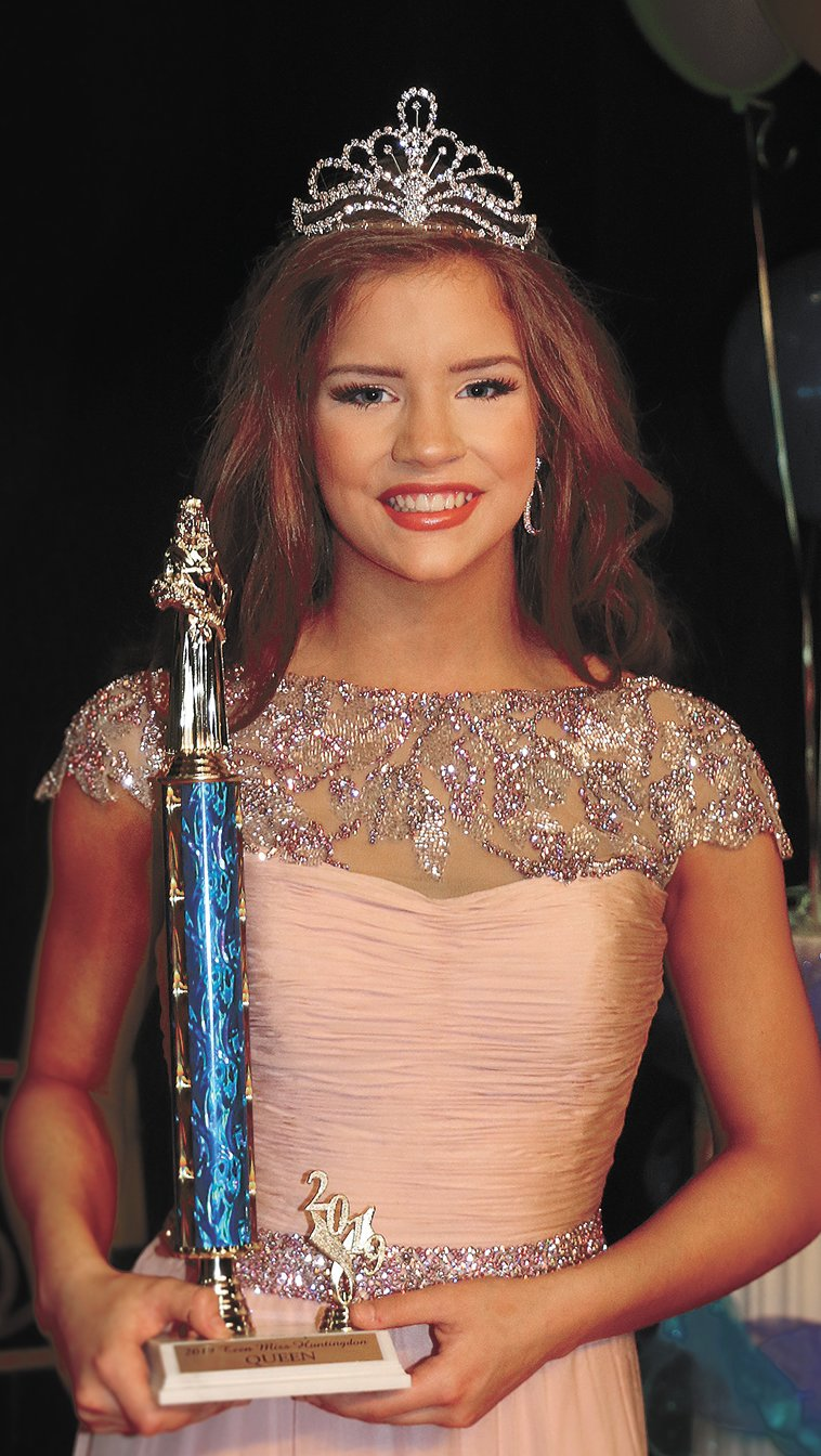 Teen Miss Huntingdon Queen Jenna Magee, daughter of Michael and Jamie Magee and Stanley and Kim Carter.