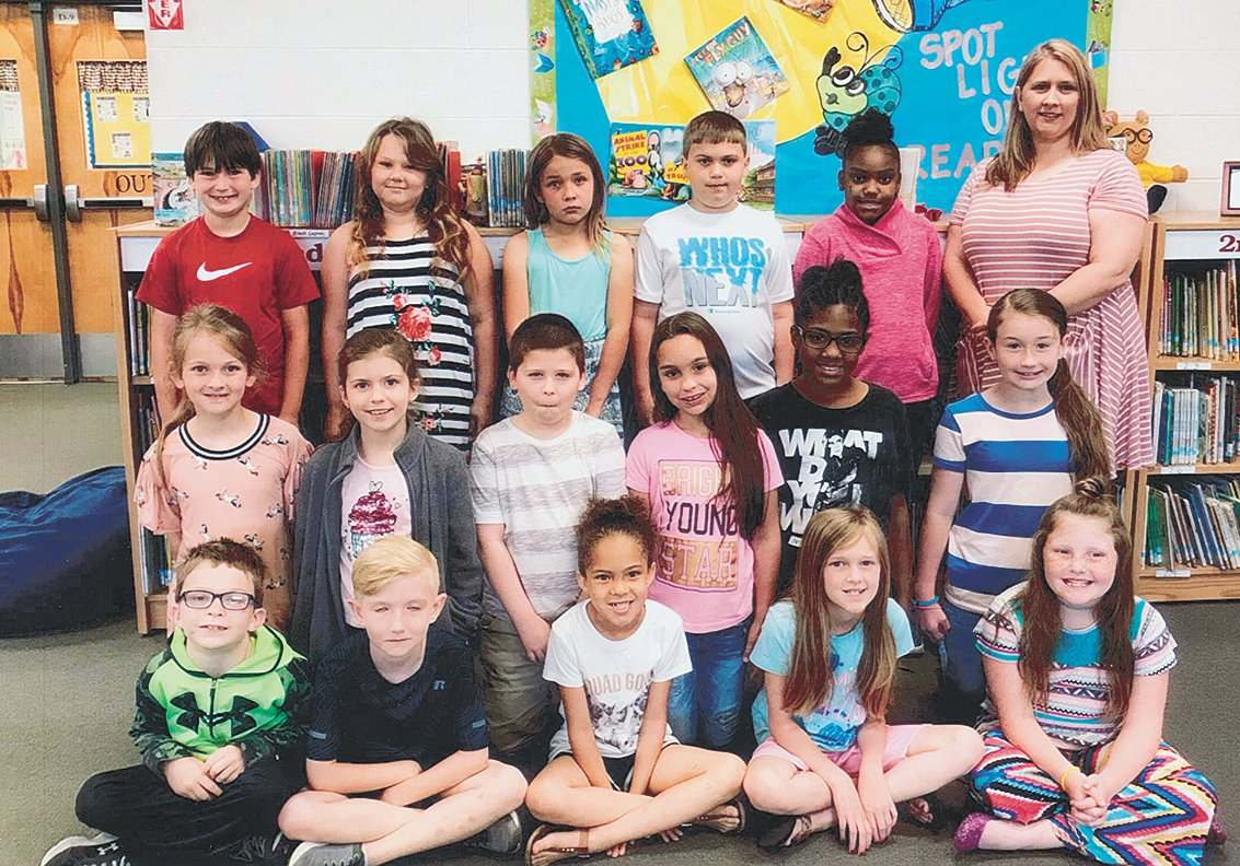 Mrs. Cari Moore's second grade class reached its reading goal of 1,000 Accelerated Reader points in April. The class maintained an average of 89.1 percent correct in comprehension while achieving the goal. Congratulations to the class and keep up the hard work!