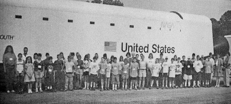 20 YEARS AGO — Dozens of area youth attending a space camp at Bethel College boarded the Dream Mission Space Shuttle for a hands-on learning experience.