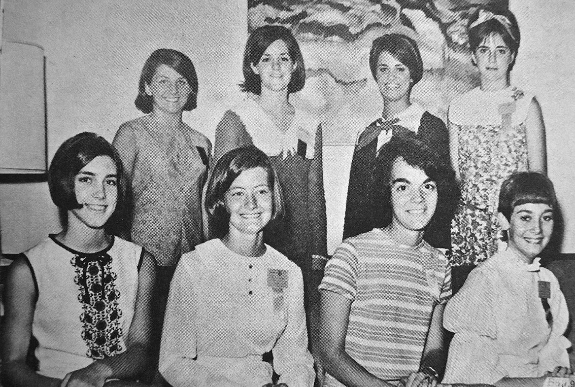 50 YEARS AGO — Jill Holland (pictured front left) was elected mayor of the mythical Blount City during the week-long Volunteer Girl's State on the campus of Middle Tennessee State University in Murfreesboro.