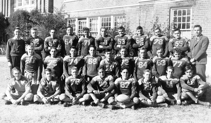 "Dr. T. Howard Smith played on the 1940-41 McKenzie High School Football Team  Front row (L to R): J. B. Johnsonius, Norvell Headden, Doug McCadams, Lucian Nelson, Phillip Williams, R. L. Reynolds, Tommy Connley, Mack Buckley. Second row, (L to R): Frank White Garrett, Wilbur Headden, Howard Smith, Bob Pratt, Otis Dotson, Dan Childress, John Moseley, Paul Carroll, Charlie Simmons. Third row, (L to R): Mgr. Richard Ferguson, Bobby Cozart, Marion Hall Atkinson, Bob Harris, Mike Wilson, Paul Simpson, W.H. ""Bill"" Brush, James Oliver Akers, Charles ""Pappy"" Steele, Bill Brooks, Coach Norman McKenzie."