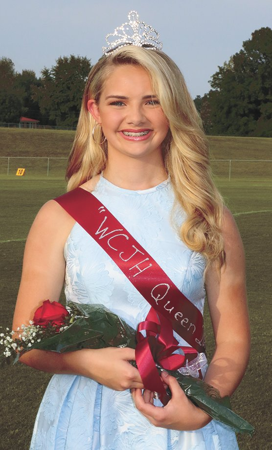 Olivia Arnold, 13, eighth grade, daughter of Mark and Sally Arnold of Trezevant, was crowned queen at the 2019 West Carroll Junior High Homecoming. She is in Junior Beta Club and plays trumpet in the school band.