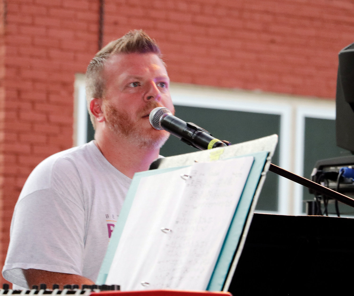 Matthew Holt, executive director of Renaissance, was right at home on the keyboard.