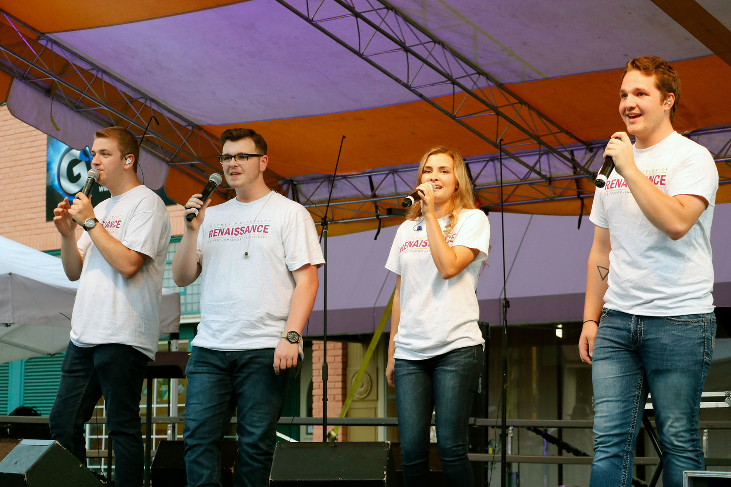 Bethel's Renaissance Gospel Quartet performed on the main stage.