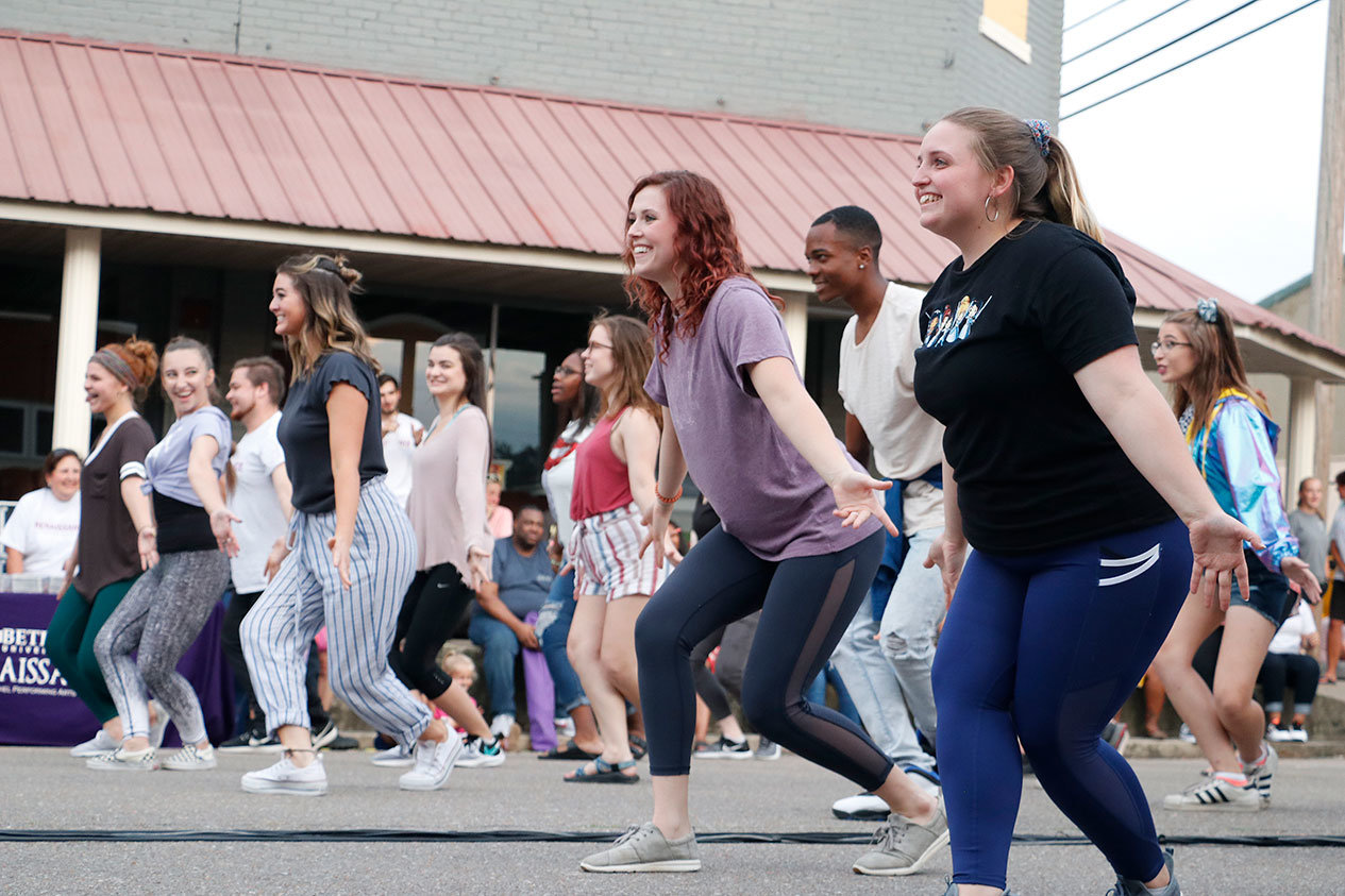 Bethel's Renaissance Theater presented a animated production of Aladdin on the Broadway Street.