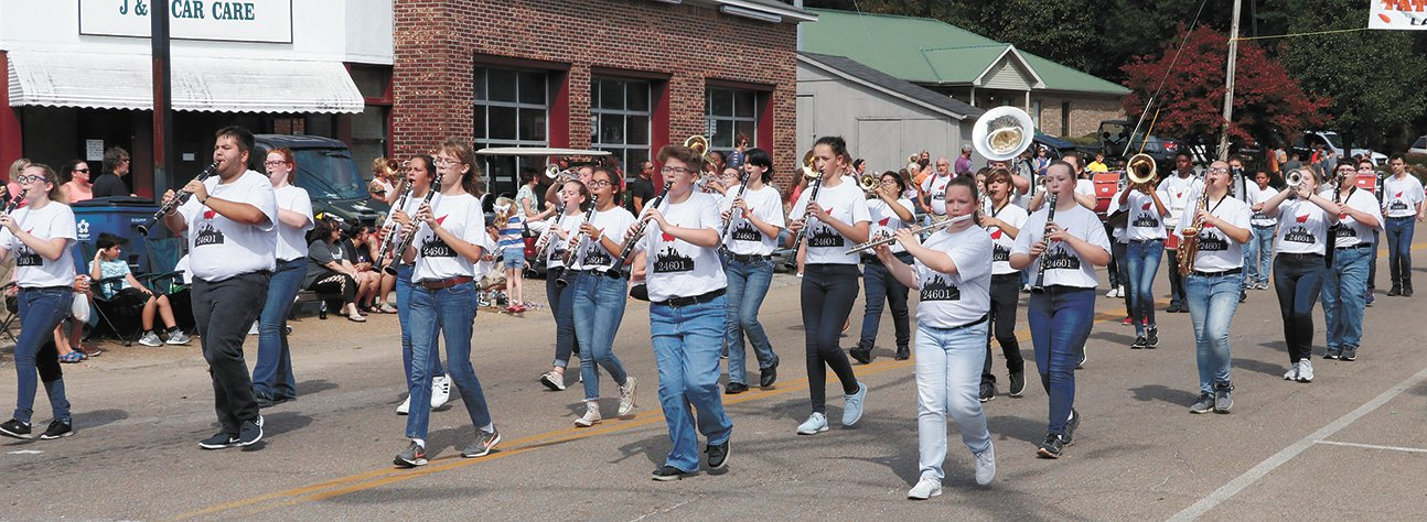 McKenzie Marching Rebels performed during the parade.