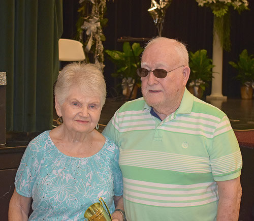 Couple Married Longest Time: William and Martha Freeland-68 years.