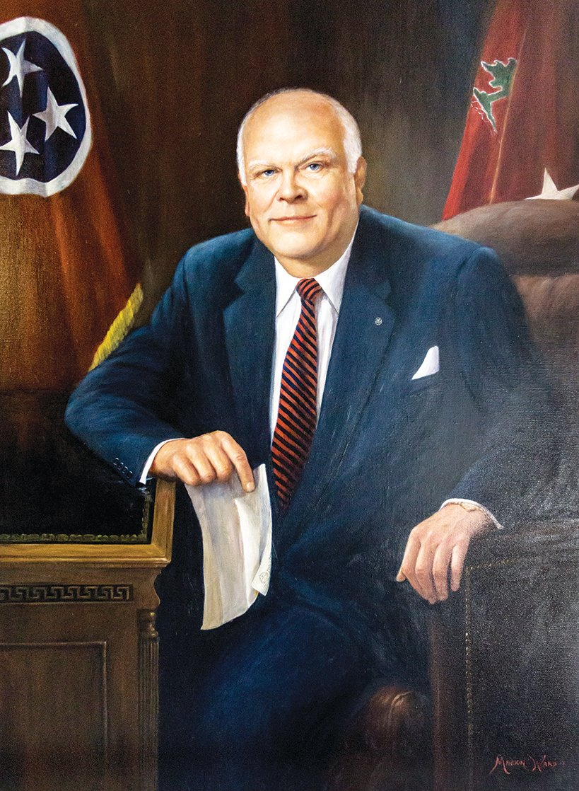 Ned McWherter Tennessee Governor 1987-1995. Official portrait in the Tennessee State Capitol, Nashville, TN.