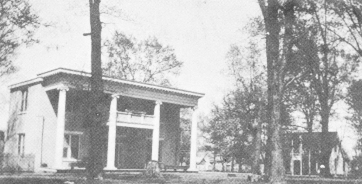 The home of Dr. Harris Collier. It was built by great-uncle Gardner Gilbert.