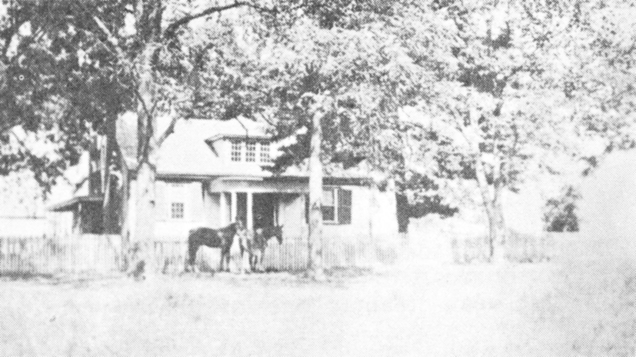 The home of Albert and Pernecia Harris. The farm is now owned by Holland family.