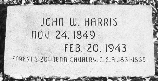 Headstone marking the final resting place General John W. Harris in Chickasha, Oklahoma.