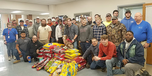 Tennessee College of Applied Technology in McKenzie held a Pet Food Drive to help the Carroll County Humane Society. All programs were encouraged to participate with the incentive of the winning program receiving donuts. Students collected over 16,000 ounces of pet food/ supplies. The Heating, Ventilation, and Air Conditioning (HVAC) program won by collecting 379 ounces per student. TCAT McKenzie adopted the #smallschoolbigheart a few years ago due to its students always being willing to support their local community and school activities. TCAT may be the small technical school on top of the hill, but its staff attempt to make a big change in the students and the community. For more information about the programs offered at TCAT McKenzie, call 731-352-5364. New classes begin January 6th, 2020.