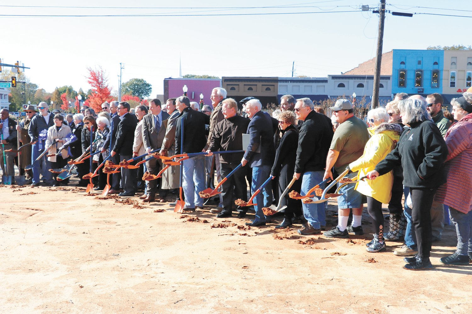 The official groundbreaking for a modern library was held Friday, November 8 at the corner of Lindsell and Unversity streets.
