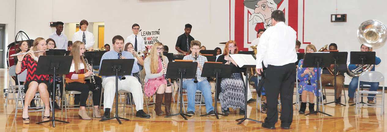 MHS Band performed a medley of patriotic music.