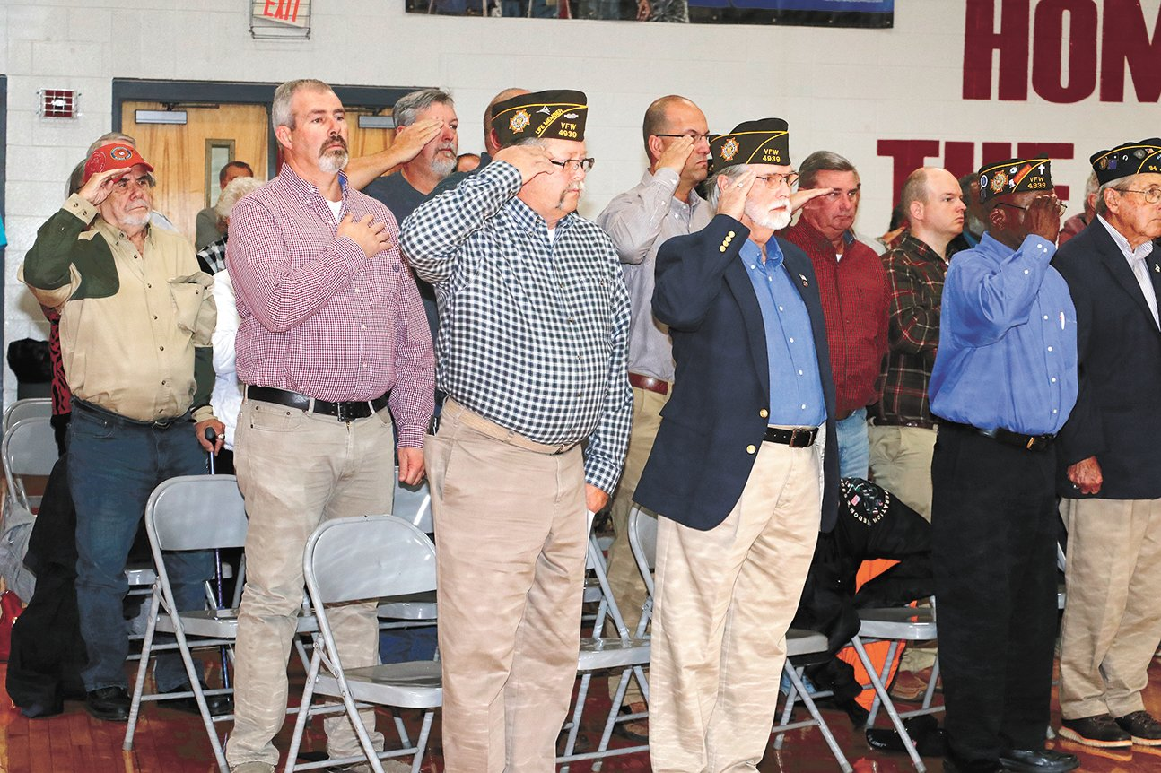 Veterans were the guests of honor.