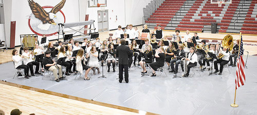The West Carroll band performed several times during the Veterans Day Program.