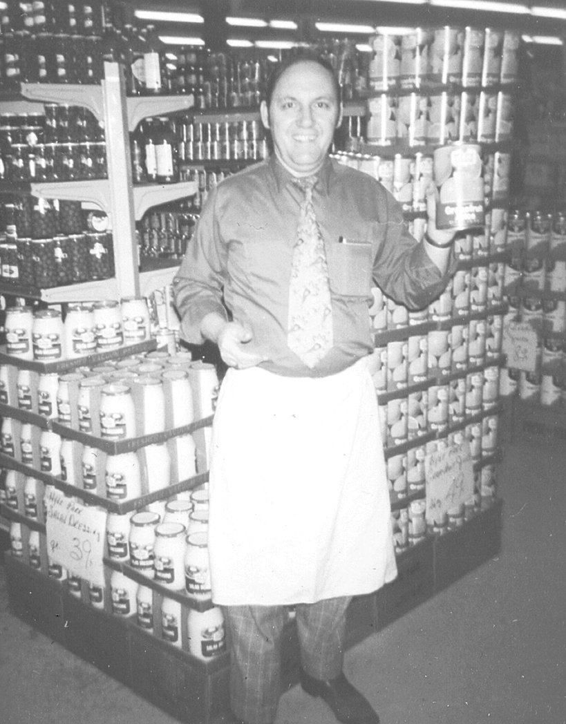 Leon Purvis, store manager of Junior's J&J; McKenzie's and Carroll County's first supermarket.