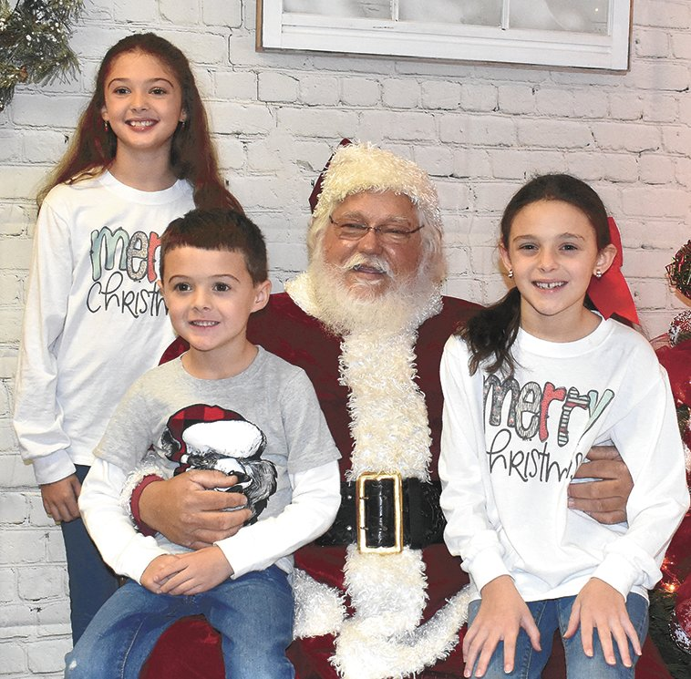 From left, Addison Milam, nine; Reece Milam, five; and Madilyn Milam, seven, children of Laura Beth and Tyler Milam.