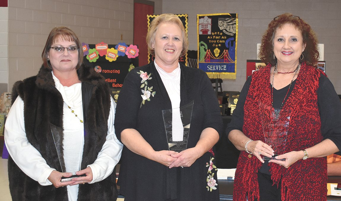 Three retiring teachers were honored including Wendy Rogers, Linda Black, and Suzanne Tucker.