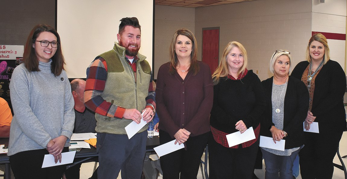 Six West Carroll Teachers gained tenure including Rachel Baker, Shane Depriest, Susan Barrow, Lisa Kapeller, Michelle Robinson, and Brittany Fowler.