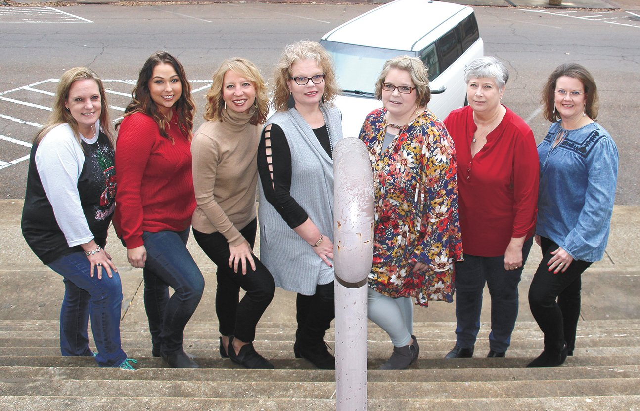 From left, Angela Stockdale, Carissa French, Sarah Bradberry, Melissa Jennette, Jill Taylor, Kathy Pinkston and Sheri Boyd.