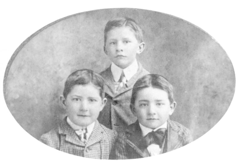 Charlie, John(standing), and Will Penick as children.