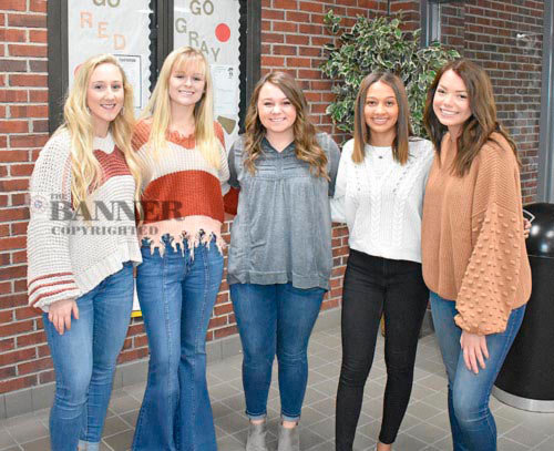 McKenzie High School celebrates Homecoming Saturday, January 11 as the Rebels and Lady Rebels host Humboldt. Prior to the 6 p.m. tip-off, the Homecoming royalty will be presented and the queen crowned. The royalty includes (L to R): senior Shelby Davis, junior Kennedy Green, senior Jenna Tucker, senior Carrie Becker and senior Lilli Taylor.