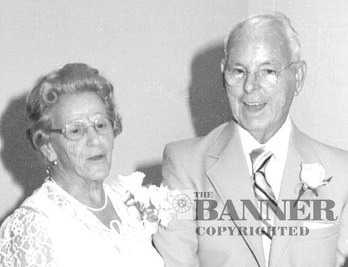 The McKenzie Banner owner and publisher, J. Frank Barlow and wife, Elizabeth, pictured at their 50th Wedding Anniversary celebration.
